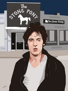 Bruce Springsteen - Stone Pony Boy Art Print